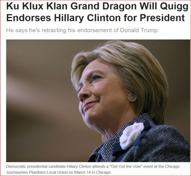 3-14-2016-Hillary endorsed by KKK